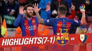 Download Resumen de FC Barcelona vs Osasuna (7-1) 3Gp Mp4