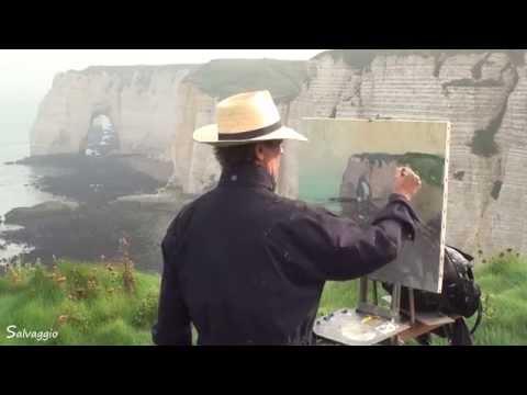 José SALVAGGIO plein air painting 06 Etretat Manneporte