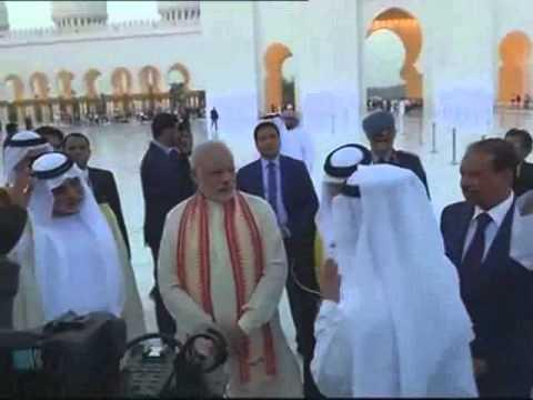 Narendra Modi visits Sheikh Zayed Mosque in Abu Dhabi