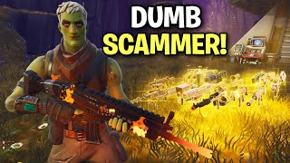 so i let a Scammer 1v1 me for his guns back! 🤣 (Scammer Get Scammed) Fortnite Save The World