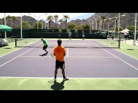 Fabio Fognini Practice 2015 BNP Paribas Open Indian Wells
