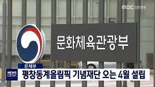 문체부, 평창올림픽기념재단 4월 설립