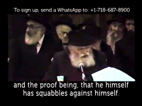 The Rebbe's talk on homosexuality