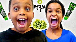Bad Baby Grinch ATTACKS AGAIN Gross Wasabi Prank - Christmas Toys - Onyx Kids