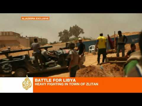 Fierce fighting for Libyan opposition in Zlitan