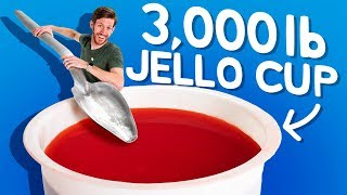 We Built the World's Largest Jello Cup!