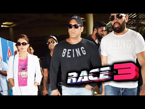 Salman Khan & Jacqueline In Returns Mumbai For RACE 3 Trailer Launch thumbnail