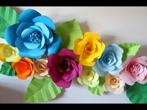 How to Hang Paper Flowers for Your Room