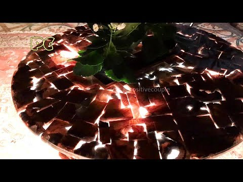 Table of waste wood and epoxy resin  ArtLine Crystal+!!! Стол из обрезков и смолы ArtLine Crystal+!