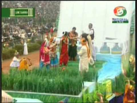 Narendra Modi, Barack Obama, Amit Shah watching Gujarat tableau in 26 January Parade