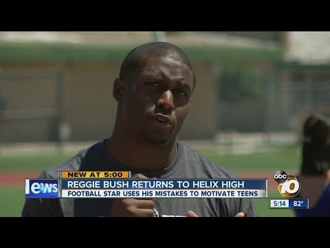 NFL star Reggie Bush to Helix High School students: Map out a plan, set a goal for yourself