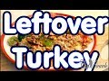 Leftover turkey stir fried with rice and vegetable Thanks giving day !Leftover turkey