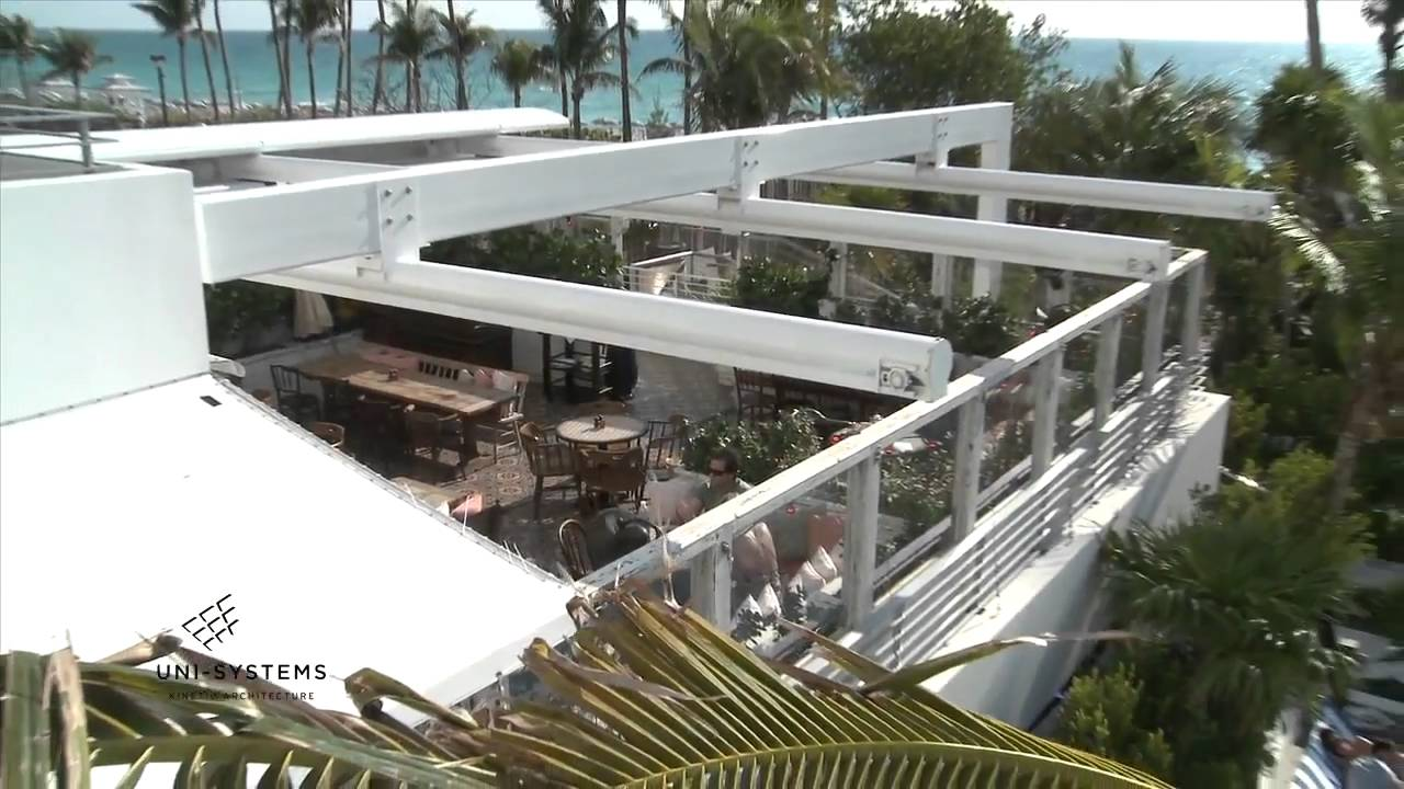 Soho House Hotel En Fold Retractable Roof By Uni Systems