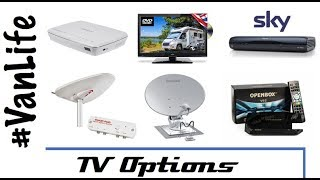 How we get TV in our van - Satellite, Freeview, Freesat, Internet  RV, Camper, Motorhome