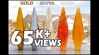 vray material gold silver glass effects tutorial