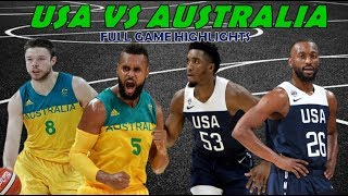USA vs Australia Full Highlights | August 22, 2019 | Fiba World Cup Preparation