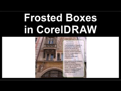 Frosted boxes in CorelDraw X3