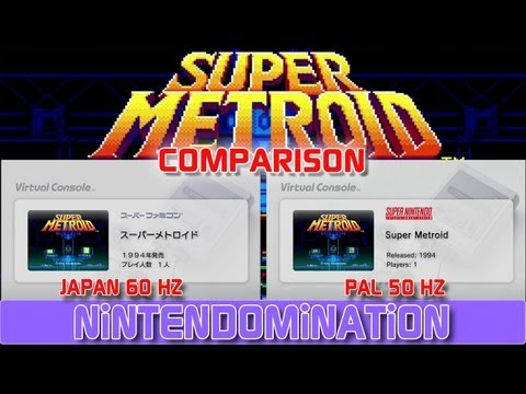 WiiU VC - Super METROiD only 50HZ in EUROPE - Comparison