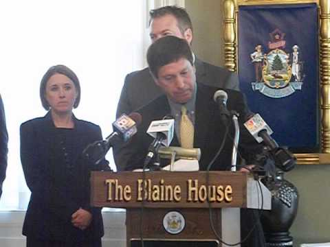 Pt 1- Maine Governor Paul LePage News Conference on PUC, Income Tax Removal & Budget