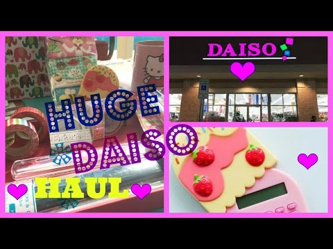 * Huge DAISO Haul * April 2016 Japanese Dollar Store