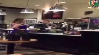 Jennifer Boyle Rant at  Peet's Coffee shop, Longer Clip