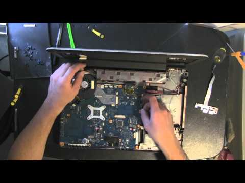 TOSHIBA L455D laptop take apart video, disassemble, how to open disassembly