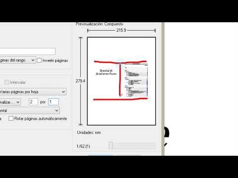 Imprimir dos paginas en una y imprimir cuatro paginas en una de un pdf