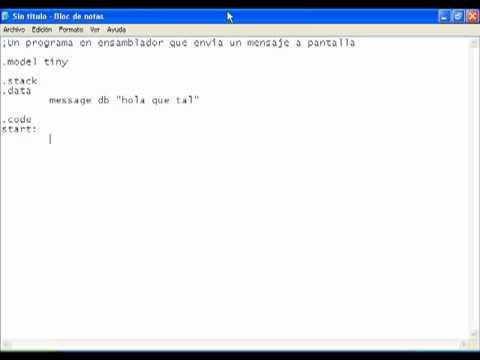 Programando en Assembler Parte2