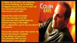 Watch Collin Raye One Desire video