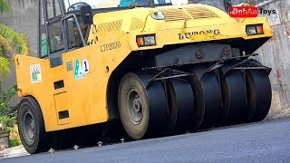 Road Roller Videos for Children - Excavator and Dump Truck Working ♫ Song for Kids to Dance