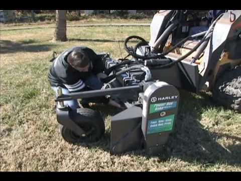 harley rake for skid steer loaders youtube