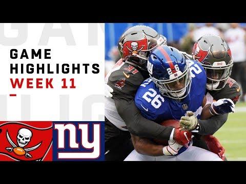 Buccaneers vs. Giants Week 11 Highlights   NFL 2018