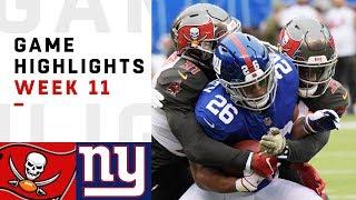 Buccaneers vs. Giants Week 11 Highlights | NFL 2018
