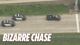 Police chase man in underwear through streets of Houston