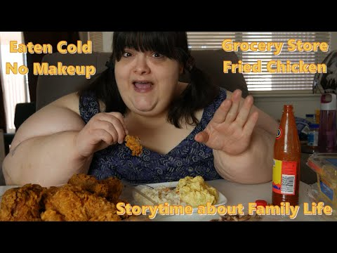 Grocery Store Fried Chicken   No Makeup Mukbang with Storytime
