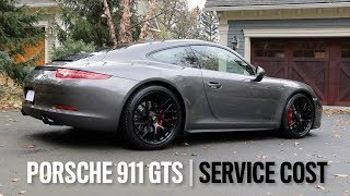Porsche 911 GTS (991.1) Second Annual Service Cost Breakdown