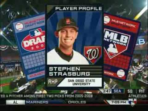 Stephen Strasburg selected #1 in MLB Draft