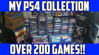 MY UPDATED PS4 COLLECTION for 2018! Over 200 games!