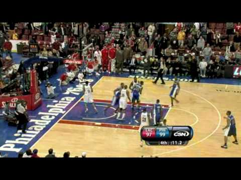 Clippers vs Sixers (NBA Highlights) 12/19/2009