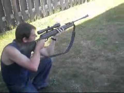 Hatsan 1250 FPS Test Fire .177 9X40 Scope