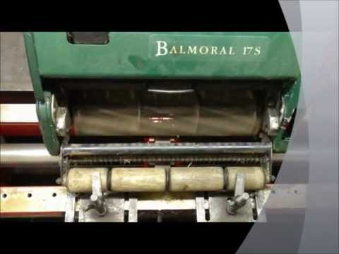 LAWN MOWER CYLINDER BLADE SHARPEN WITH GRINDING MACHINE: ATCO BALMORAL