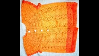 easy baby sweater(orange)for 1 year|hindi