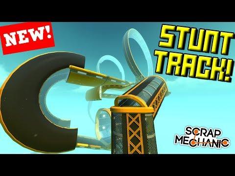 LOOPY STUNT RACE TRACK CHALLENGE!  - Scrap Mechanic Multiplayer Monday! Ep 83