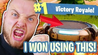 SOLO WIN USING NEW LAUNCH PAD!! - FORTNITE BATTLE ROYALE!! #5
