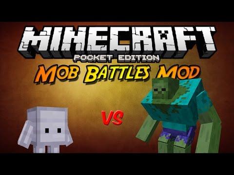 Minecraft PE 0.10.X Mod Nativo | Batallas de Mobs Mod V2 (Español) (Mob Battles)
