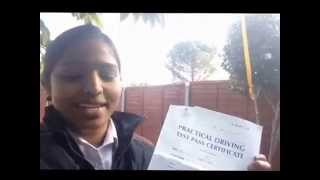 Driving lessons in Kingston Helped Racksiya  Ajanthan Pass Her Driving Test