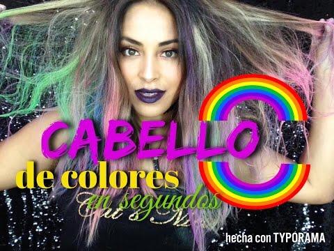 Cabello de colores en segundos | tizas para pintar cabello|  Realmente funcionan ???