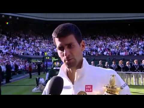 Novak Djokovic winning interview - Wimbledon 2014