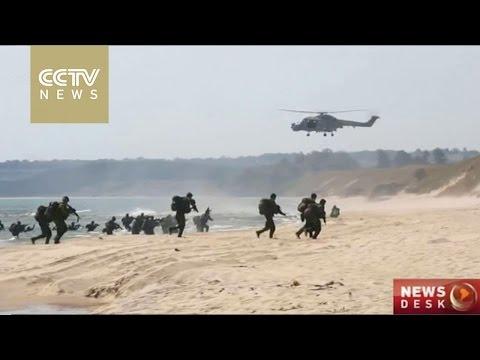 NATO conducts maritime exercise on Swedish coast