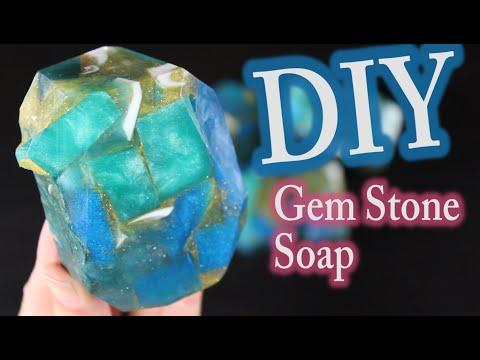Melt and Pour Soap:  DIY Gem Stone Soap